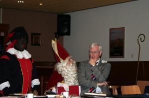 Sinterklaas en burgemeester in Dierdonk